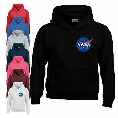 NASA Hoodie Side Big Bang Space Astronaut Geek Star Youth Boy Girl Kids Hoody
