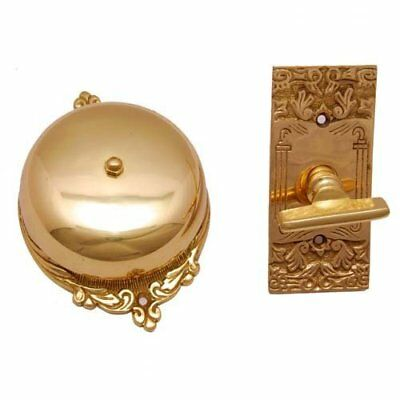 Bartholomew Brass Manual Antique Fashion Door Bell or Twist/Thumb-Turn Door Bell