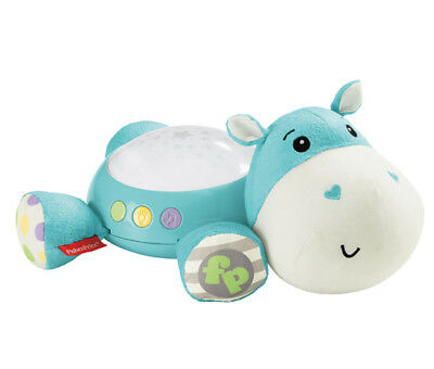 Fisher Price - Hippo Plush Projection Soother - Pink Or Blue