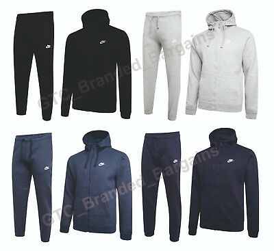 Hooded Tracksuit Nike Zip 2 Fleece Bottom Jogging Top Foundation Full Mens P8qwg618Y