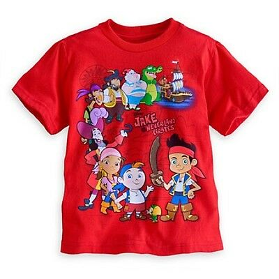 NWT Disney Store Jake and the Never Land Pirates Tees T-Shirt Shirt Boys S 5 6