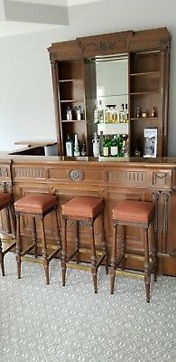 Antique Bar, Solid Mahogany Hand Carved for South American Embassy, GORGEOUS!