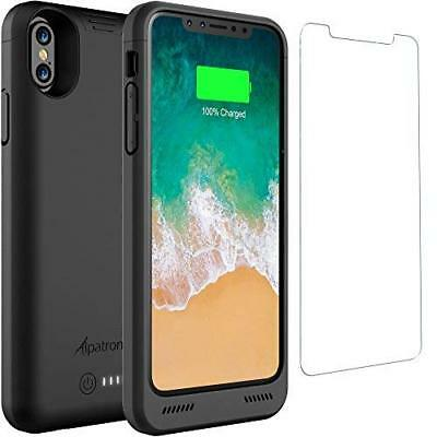 iPhone XS Battery Case  4200mAh Rechargeable Extended Shockproof Durable Black