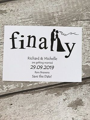 10 Finally Save The Date/ Save The Evening Cards