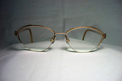 Valentino eyeglasses oval cat's eye gold plated frames women's ultra vintage