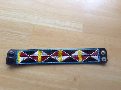 African-Arena Maasai Masai Beaded Handcrafted Leather Ethnic Bracelet AA117