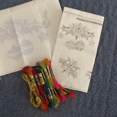 Bucilla Christmas Kit, Doily (?), Stamped & Ready To Embroider