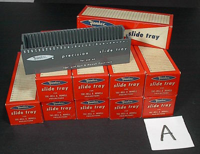 10 Micro-Fit 30 Slide Trays Lot Bell & Howell TDC 35mm Excellent Condition