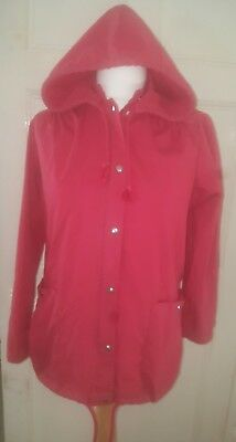 gorgeous red vintage st michael jacket rain coat style Cotton blend size 10/12
