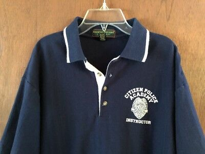 Citizen Police Academy Wisconsin Instructor Vintage Golf Polo Shirt Uniform