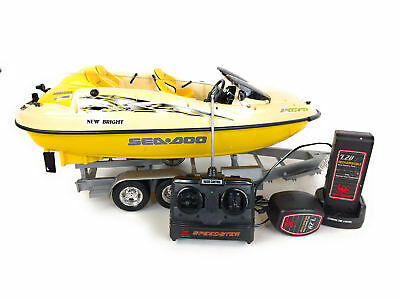 NEW BRIGHT SEA Doo Speedster Jet Boat 1/10 Scale RC Radio Control 7 2V  UNTESTED