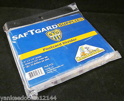 """Lot /100 STG White Plastic Postcard / 4x6 Photo Dividers - 6 x 4 with 3-1/2"""" tab"""