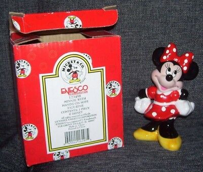 Minnie Mouse hands on hips New in Box New/Old Stock Walt Disney World Figurine
