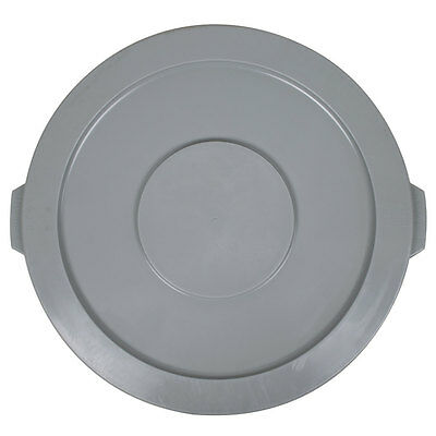 32 Gallon Gray Round Plastic Restaurant Trash Can Lid
