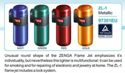 Zenga Metallic ZL1 Jet Flame Lighters Wind Proof -UK Seller Free & Fast Shipping