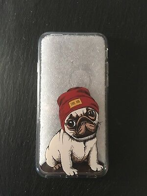 Pug Cute Puppy Dog  Clear Phone Case Cover Fits iPhone 6 6s