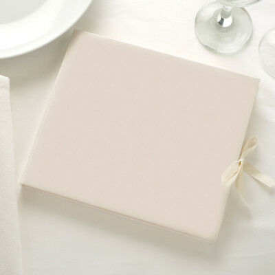 Ivory Guest Book. DIY Wedding Guest Book. Plain Guest Book. 34 pages / 68 sides.