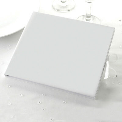 White Guest Book. DIY Wedding Guest Book. Plain Guest Book. 34 pages / 68 sides.