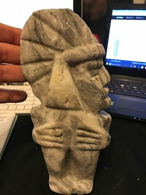 Mayan Central American Indian Carved Marble Diety / Figure - Antique