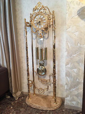 Soher Grandfather Clock Quartz Spanish Bronze Mechanism Hermle of Germany New