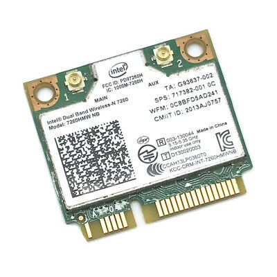 HP Intel Wireless-N 7260 7260HMW NB Mini PCI-E WLAN 802.11b/g/n 300M Wifi Card
