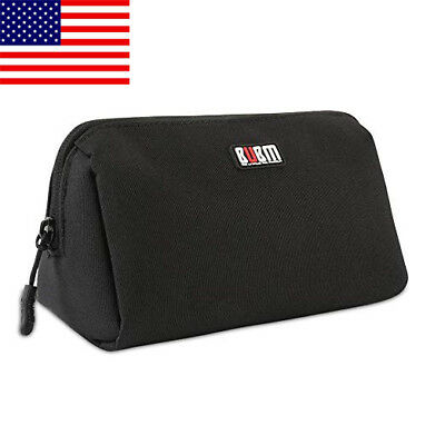 Small Handbag Cosmetic Makeup Bags Pouch Travel Gadget Organizer Black US SHIP