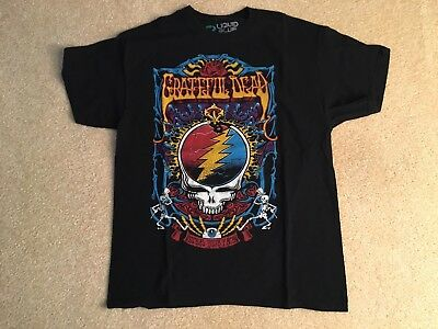 Grateful Dead - Steal Your Face - T-shirt Size Large Liquid Blue