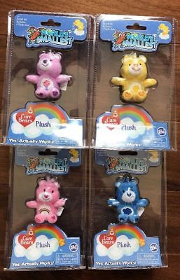 Worlds Smallest Care Bears Plush Complete Lot Of 4:Cheer Share Funshine Grumpy