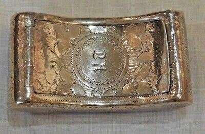 Antique Dublin Silver Miniature Curved Box by Richard Sawyer 1809