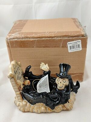 New in Box 2011 Boney Bunch Rest in Pieces NIB Yankee Candle Holder Halloween