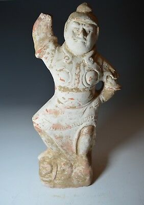 large Chinese Tang Dynasty tomb guardian figure Tang dynasty Circa 618-907 中国古董