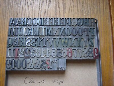 "Letterpress Metal Type  ""Clarendon ""  72 Point"