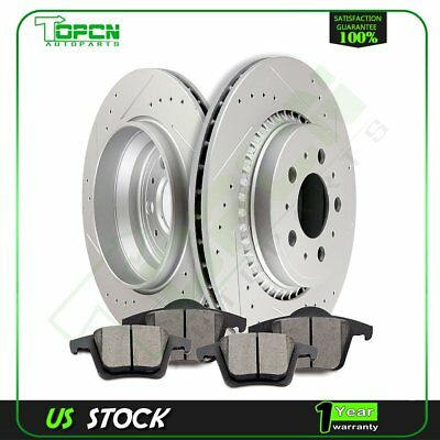 Rear Brake Rotors /& Ceramic Pads for 2003 2004 2005 2006 2007-2014 VOLVO XC90