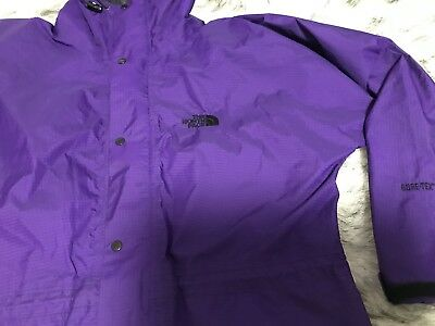 Vintage The North Face Mens / Unisex Hooded Gore Tex Jacket  Size XL Purple