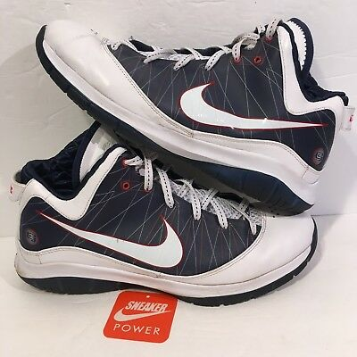 50f8cf15d71 Nike Men s Lebron James 7 VII PS USA Olympic Red White Blue 13 407639-100