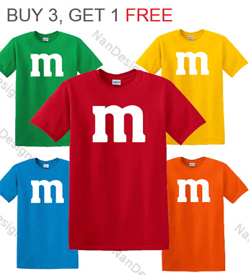 M & M Halloween Costume M and M Group Costumes Tee T Shirt - LIMITED GET 1 FREE