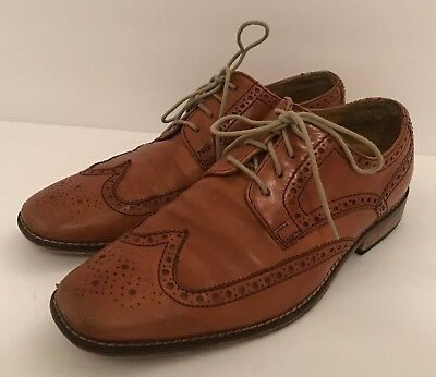 Cole Haan Light  Brown Leather Lace Up Oxfords Dress Shoes Mens Size 7