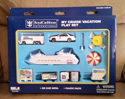 New Royal Caribbean My Cruise Vacation Play Set Toy Die Cast Metal + Plastics