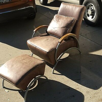 Milo Baughman  Lounge Chair & Ottoman Thayer Coggin Mid Century...ltd edition
