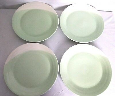 "Royal Doulton ""1815"" Green/White Porcelain Dinner Plates Set Of 4 England"