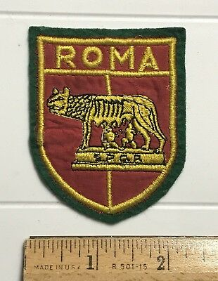 Roma Rome Italy SPQR Capitoline Wolf Romulus Remus Embroidered Patch Badge