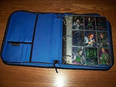 OVER 250 BATMAN TRADING CARDS 1990's IN DELUXE ZIPPERED SPORTS BINDER EXCELLENT!