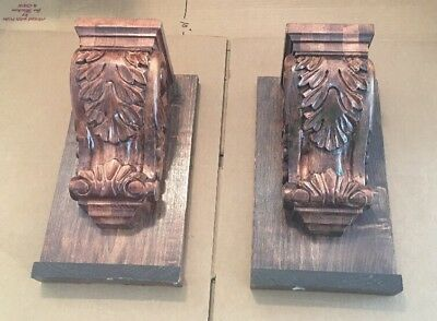 Wood Corbels, Lot of 2, Architectural Salvage Bar/Wall Hanging Heavy Duty
