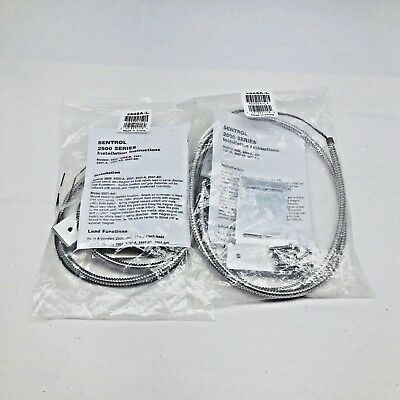 Qty 2 Ge-2505A-L-Sentrol Wide Gap Surface Mount Armored Alarm Contact