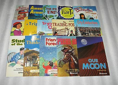 Lot Of 15 Harcourt Leveled Readers -  3.5 - 4 Level - No Duplicate Titles