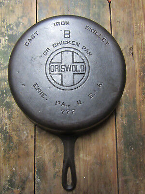 Griswold No 8 Chicken Pan 777 Old Cast Iron Skillet