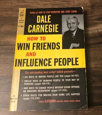 Vintage paperback HOW TO WIN FRIENDS AND INFLUENCE PEOPLE, Dale Carnegie 1962