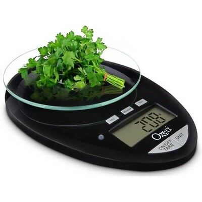 12 Lbs Pro II Digital LCD Kitchen Scale Removable Glass Platform Countdown Timer