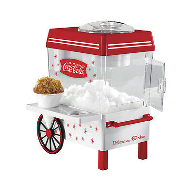 White Glass Chamber Countertop Beverage Snow Cone Maker with Reusable Cones