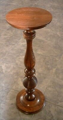 """Antique Turned Oak Fern Stand Plant Stand  34"""" Tall"""